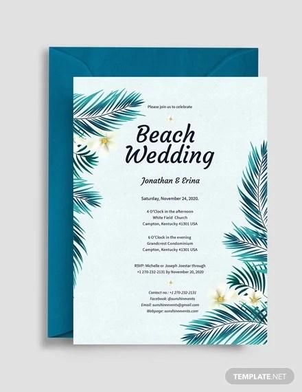 26 beach wedding invitation templates
