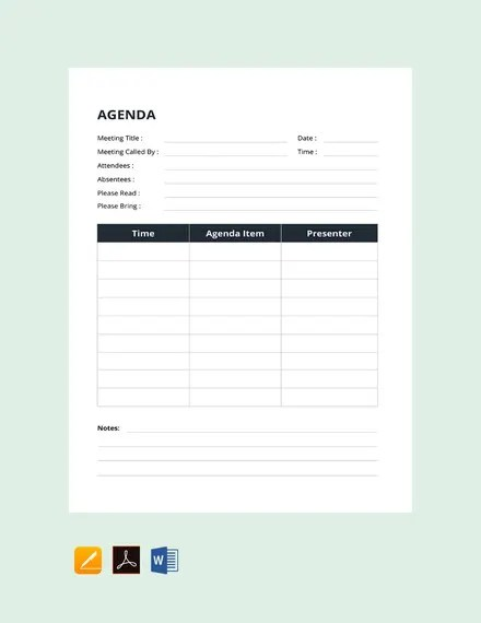 Throw multiple kids participating in multiple activities into the mix, and it becomes even easier to end up at the wrong activity or appointmen. 25 Simple Agenda Templates Pdf Doc Free Premium Templates