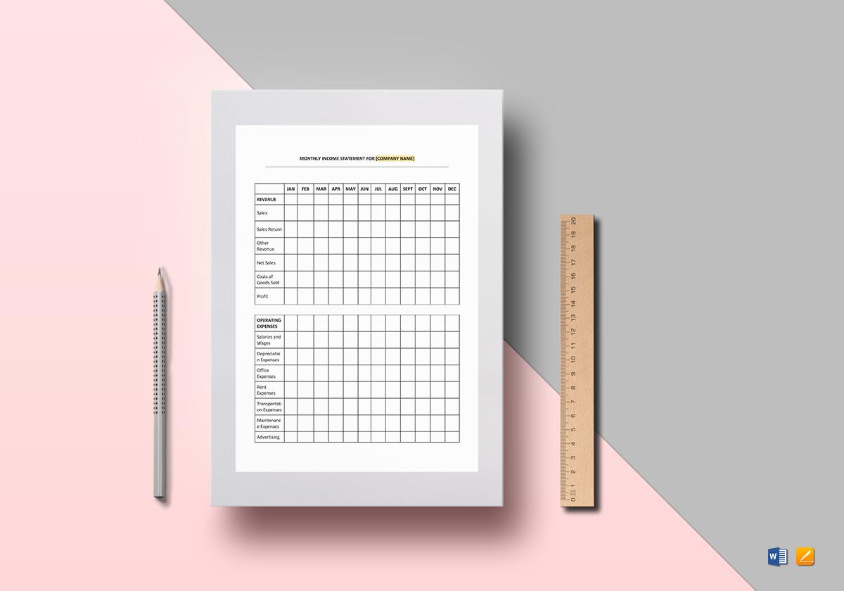 12 Monthly Balance Sheet Templates