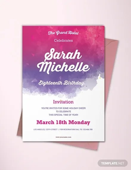 classic debut invitation card templates