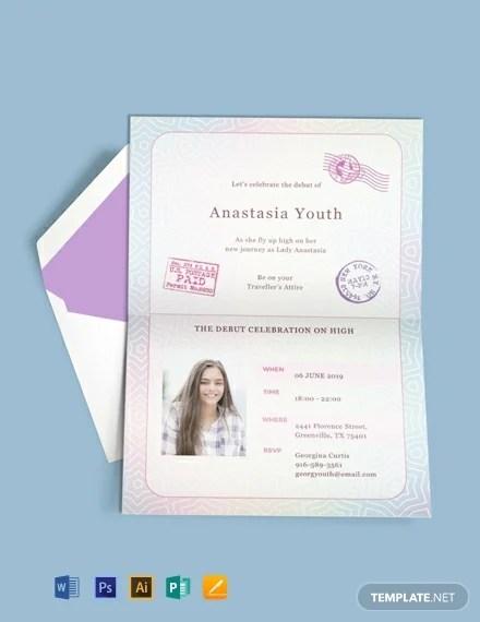 passport invitation 10 templates