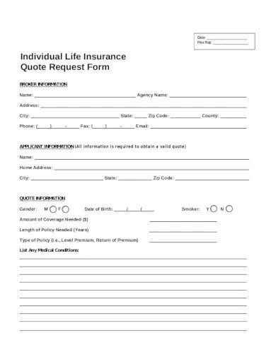 Complete this online form to request an auto insurance quote for your vehicle. 13 Insurance Quote Templates In Pdf Word Free Premium Templates