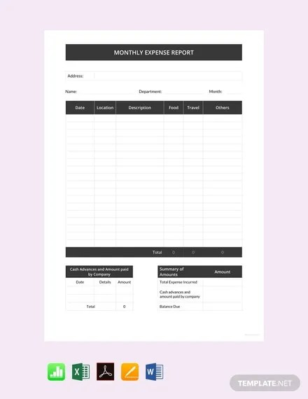 21 free weekly expense report templates office templates from www.officetemplates.org our free expense report template will make reporting expenditures much easier and is even … 41 Expense Report Templates Word Pdf Excel Free Premium Templates