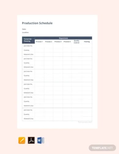 Competition drives a lot of how businesses function that understanding your position, expenditures, concentrate and products. 18 Production Schedule Templates Google Docs Google Sheets Pages Numbers Ms Excel Ms Word Editable Pdf Free Premium Templates