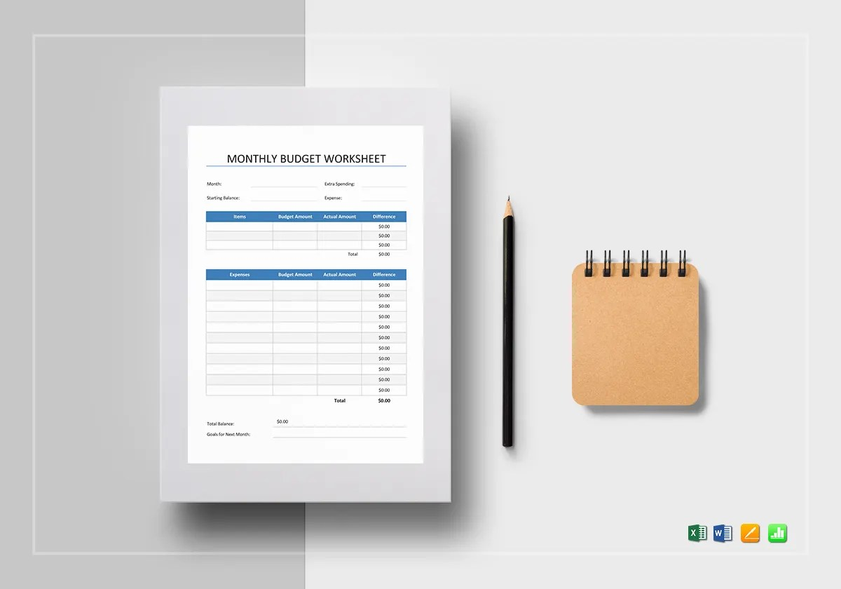 7 Monthly Business Budget Templates