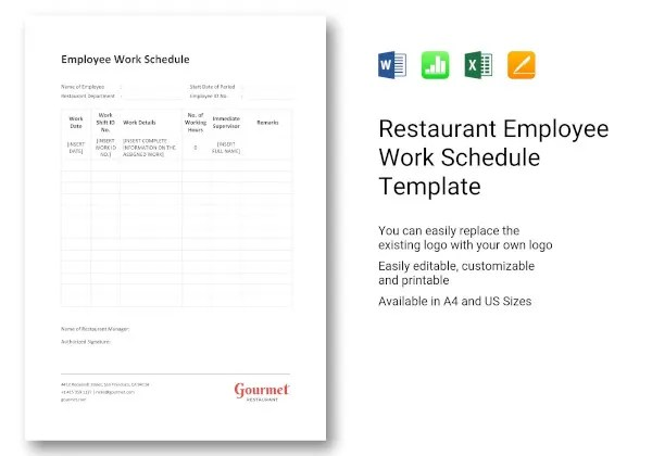 """"""" you'll often find that this is true at even the most earliest stages, such as job searching. 18 Work Schedule Templates Google Docs Google Sheets Excel Word Pages Numbers Pdf Free Premium Templates"""