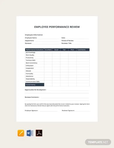 If you're a manager, you need a streamlined employee performance appraisal process to help you quickly and easily conduct employee evaluations. 12 Employee Review Templates In Google Docs Word Pages Pdf Free Premium Templates