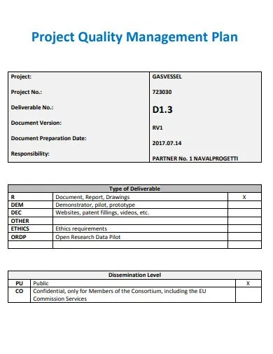 11+ Quality Management Plan Templates in Google Docs ...
