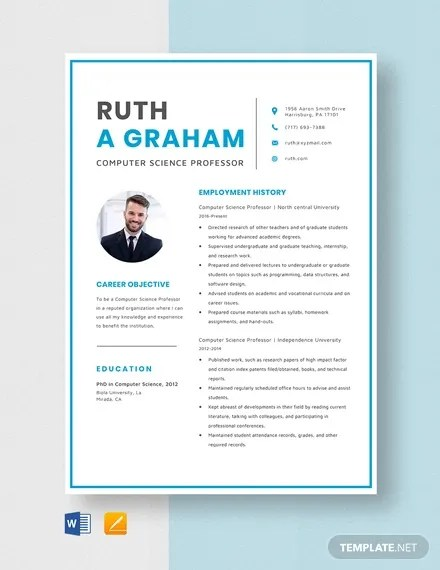Fresher resume for bsc computer science in: 12 Computer Science Resume Templates Pdf Doc Free Premium Templates