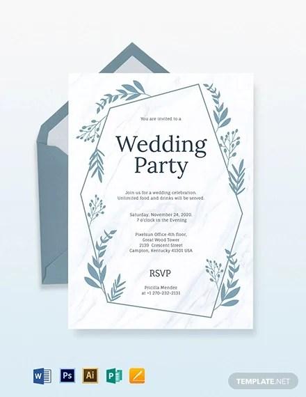 wedding invitations templates in pdf
