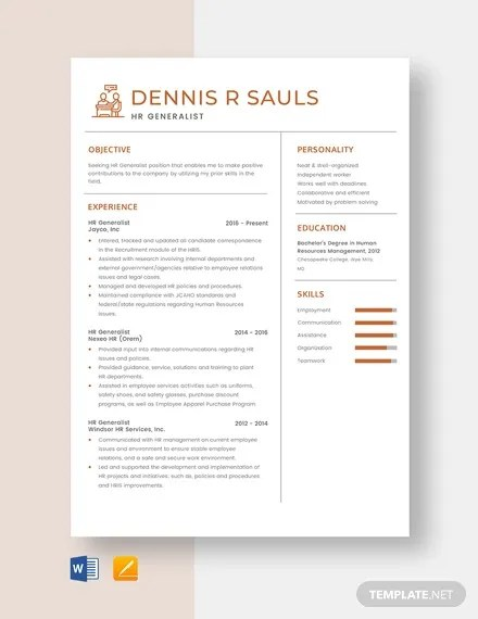 Times new roman · price: Free 26 Hr Resume Templates In Ms Word Pages Pdf Ai Psd Pages Publisher Indesign Free Premium Templates