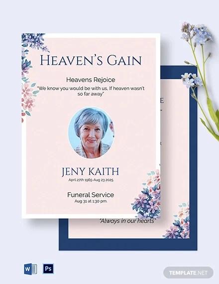 32 funeral invitation templates psd