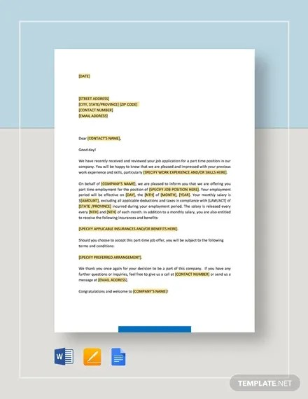 As it is a sales position, you shall. Offer Letter Template 15 Free Word Pdf Documents Download Free Premium Templates