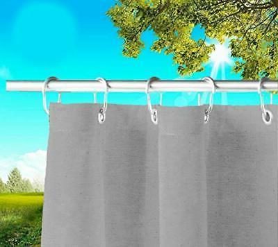 Tenda da sole per esterno con anelli e ganci misura 140x300cm pronta all'uso made in italy. Tende Da Sole Per Esterno Con Anelli