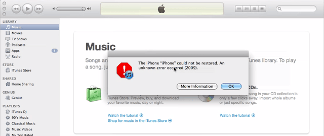 如何在Mac或PC上修復iTunes錯誤2009