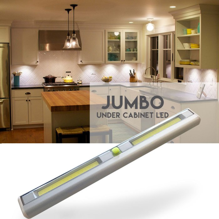 VERY Popular, SEE THE VIDEO! Jumbo Size Wireless Under Cabinet LED Light - Order 6+ for only $5.99 each! SHIPS FREE! BONUS: GRAB YOUR PHONE AND TXT THE WORD SECRET TO 88108 FOR ACCESS TO SECRET DEALS!