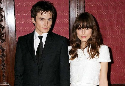 Rupert Friend and Keira Knightley part company. Photo: Getty Images