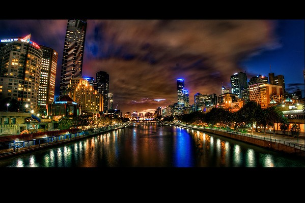 The Yarra River from Princess Bridge.