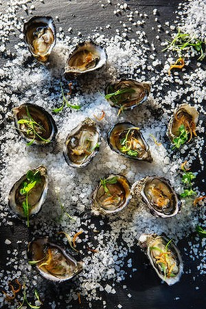 Scott Pickett's dressed oysters.