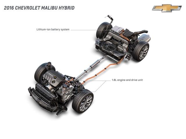 2016 Chevrolet Malibu Hybrid - propulsion system