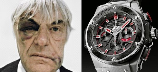 Bernie Ecclestone's bruised face featured in Hublot ad