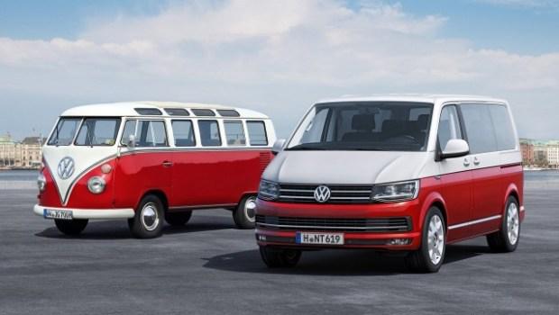 Original Volkswagen Microbus and the 2016 Transporter