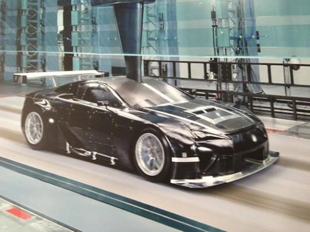 The Lexus LFA racer tweeted by Akira Iida