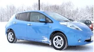 2012 Nissan Leaf winter test