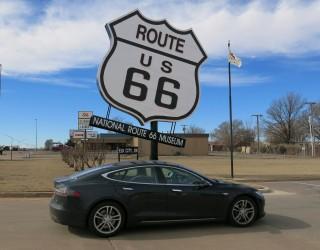 Tesla Model S electric-car road trip, Route 66 Museum, Elk City, Oklahoma [photo: David Noland]