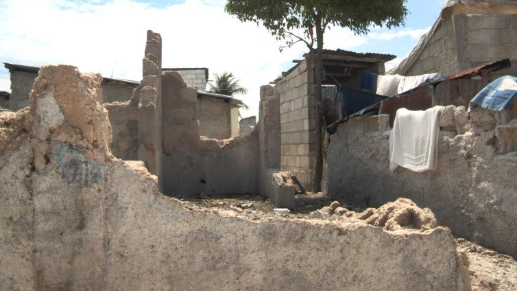 Some homes in Cité Soleil were completely destroyed by MINUSTAH gunfire and shelling. Credit:Siobhan Wills