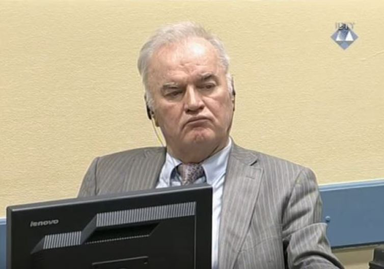 Former general Mladić during proceedings in January. UN ICTY, CC BY