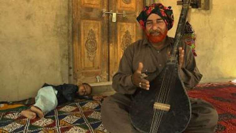 Jiant Khan, Waee Singer and Teacher, Jaloo Village. Credit: KP Jayasankar