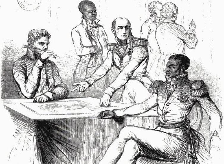 After Haiti signed its Declaration of Independence from France, in 1804, the U.S. started a 60-year political and economic embargo that hobbled the young nation's growth. Credit: Wikimedia