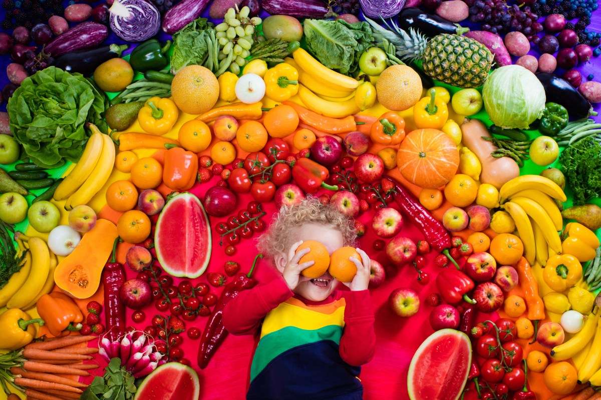 to eat a rainbow of fruit and vegetables