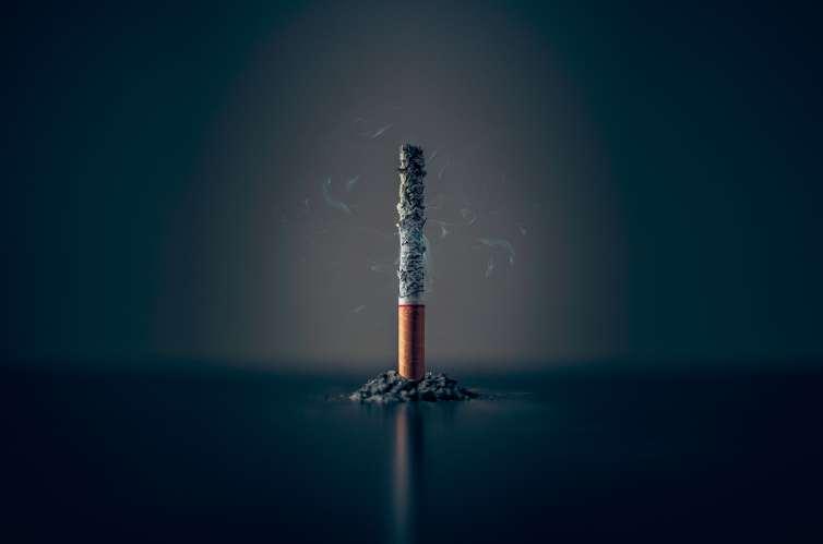Image d'une cigarette entièrement consommée