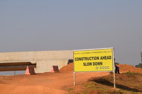 Picture of an overpass under-construction along the new Entebbe-Kampala Expressway part of the One Belt Initiative ushering in Silk Road Urbanism
