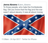 Now defunct, the 'Jenna Abrams' account was created by hackers in Russia.