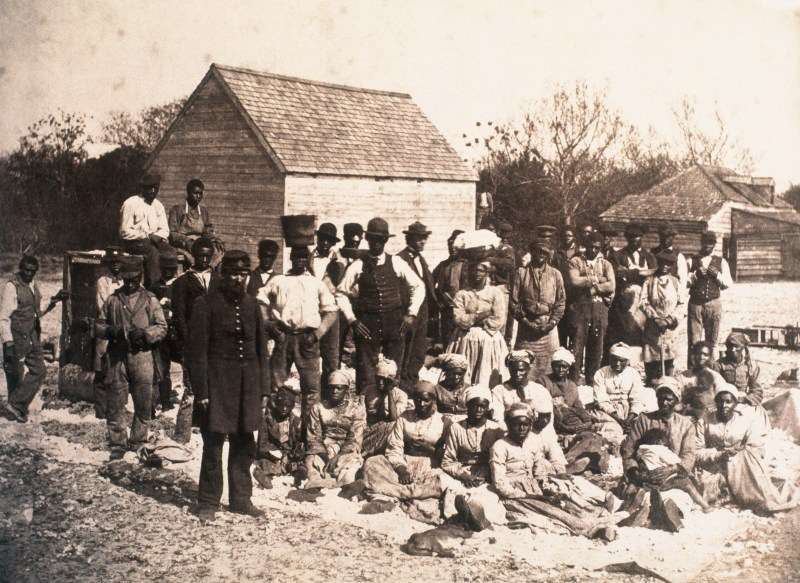 Freed slaves on a South Carolina plantation.