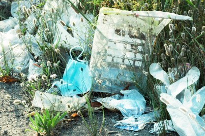 Discarded plastic waste