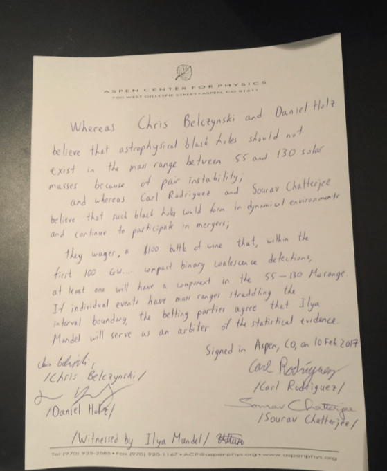 Picture of the wager text.