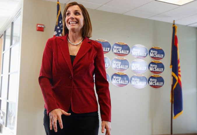 GOP Sen. Martha McSally in one of her streamlined suits.