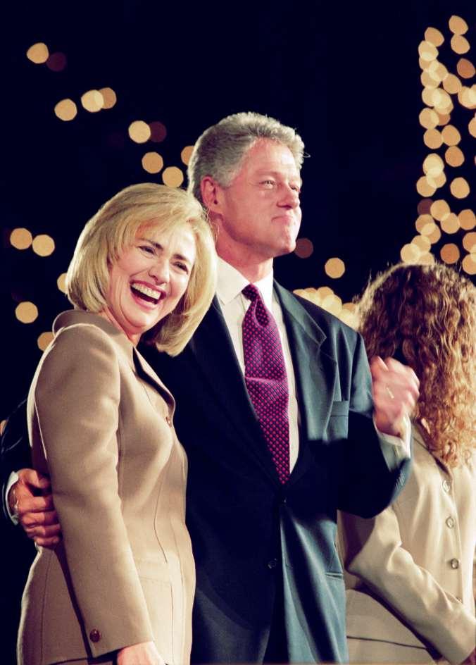 Hillary and Bill Clinton.