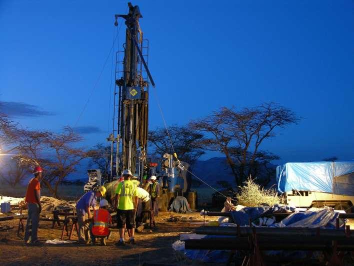 drill team at work at dusk