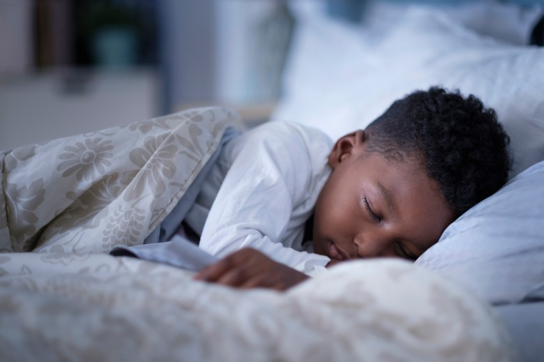 A six year old needs nine to twelve hours of sleep a day.