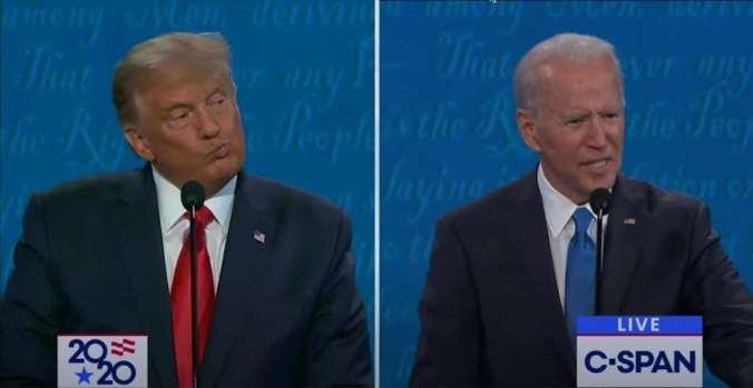 Trump elongates his lips, looking doubtful