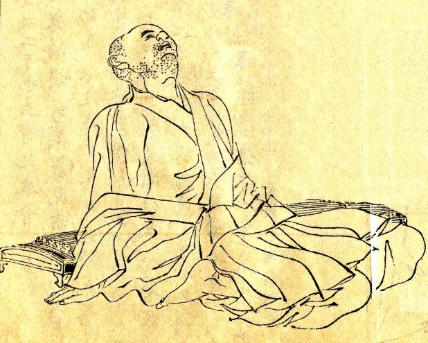 Japanese illustration of the scholar Kamo no Chomei.