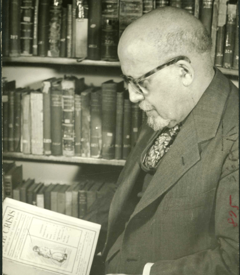 W.E.B. Du Bois in his office, ca. 1948
