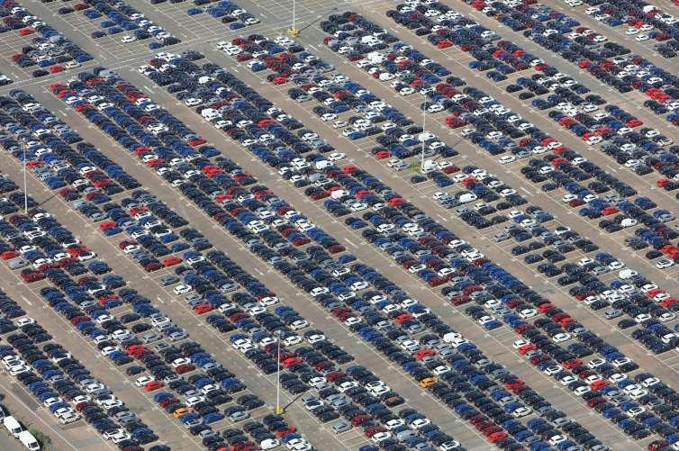 Sea of cars!