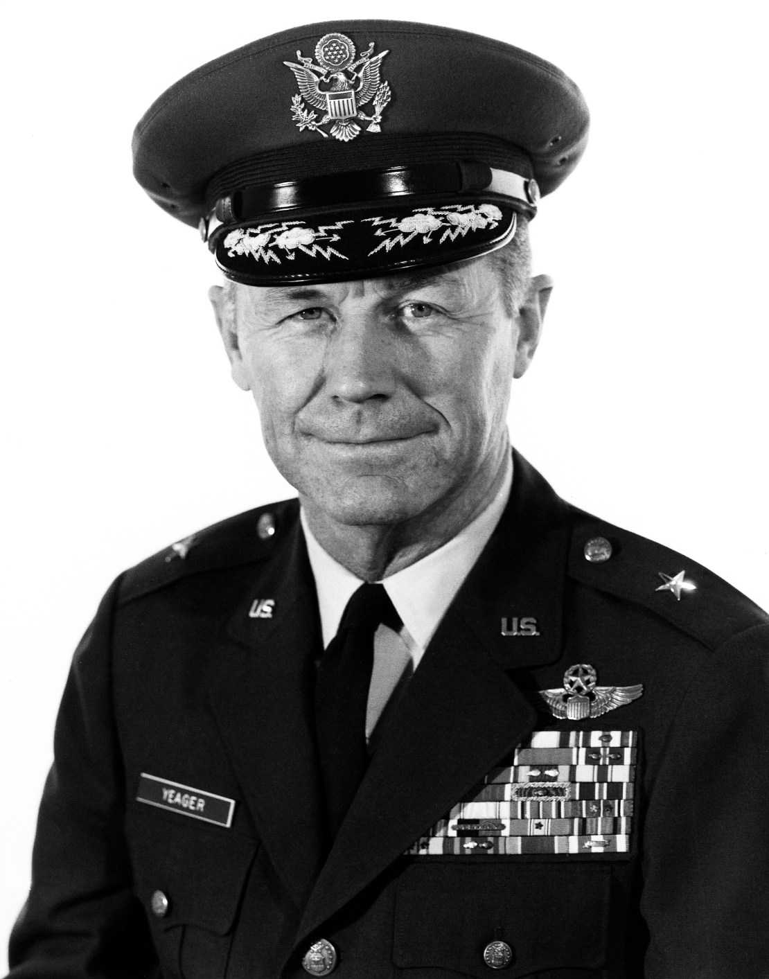 Brigadier General Chuck Yeager, in uniform