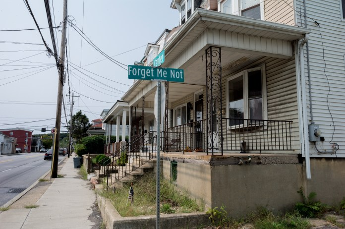 A street in Schuylkill Haven.